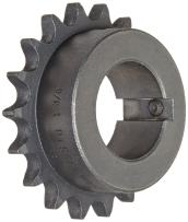 "Martin Roller Chain Sprocket, Bored-to-Size, Type B Hub, Single Strand, 40 Chain Size, 0.5"" Pitch, 21 Teeth, 1.375"" Bore Dia., 3.618"" OD, 2.75"" Hub Dia., 0.284"" Width"