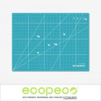 Ecopeco 18x24 Inch Blue 5-Ply Double Sided Non-Toxic Cutting Mat for Arts and Crafts, Bullet Journaling, Lettering, Origami, Paper Art, Sewing, Quilting, Quilling, Scrapbooking, Drawing, Cutting