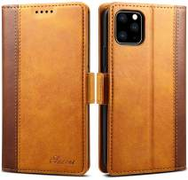 iPhone 11 Pro Max Leather Case iPhone 11 Pro Max Wallet Case SINIANL Leather Flip Folio Wallet Cover with Kickstand Card Slots & ID Holder Magnetic Closure Protective Case for iPhone 11 Pro Max Khaki