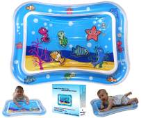 Little Lab Creations Inflatable Tummy Time Baby Water Mat Promotes Early Development of Newborns   Fun Floor Play Mat for Infants   Sensory Tummy Time Mat   Newborn Toys