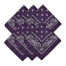 "BIGTREE 22"" x 22"" Bandanas 100% Polyester Multi-Purpose Headband Protective Face Cover Scarf Wrap"