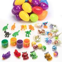 muscccm 36 Pcs Toy Filled Easter Eggs,with 5 Popular Toys Eggs Perfect as Party Favors Egg Hunt Supplies Easter Basket Stuffers for Kids Children's Toys Party Gifts Decoration