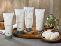 Westin White Tea Aloe Bath & Body Set - Amenity Set with 7 oz. Bottles of Shampoo, Conditioner, Body Wash, and Body Lotion and 5 1 oz. Leaf Soap Bars - White Tea Scent