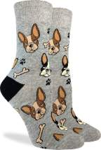 Good Luck Sock Women's French Bulldog Socks - Grey, Adult Shoe Size 5-9