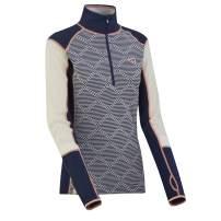 Kari Traa Women's Rett Base Layer Top - Half Zip Merino Wool Blend Thermal Shirt