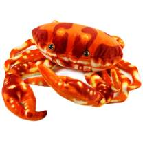 Houwsbaby Large Plush Crab Beach Stuffed Sea Animal Soft Realistic Oceanic Toy Gift for Kids Boys Girls Huggable Pet Pillow Holiday Birthday, Red, 13''
