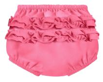City Threads Baby Girls' Ruffle Swim Diaper Cover Reusable Leakproof for Swimming Pool Lessons Beach, Bubblegum, 6/9m