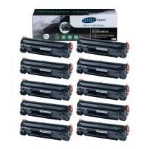 DIGITONER Compatible CE278A CRG128 CRG126 Toner Cartridge – CE278A CRG128 CRG126 High Yield Toner Cartridge Replacement for HP Laser Printer – Black [10 Pack]