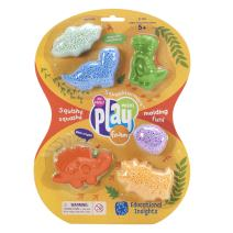 Educational Insights Playfoam Squashformers Dinosaurs| Non-toxic, Never Dries Out | Sensory, Shaping Fun, Arts & Crafts For Kids | 4 Pods of Mini Playfoam & Dinosaur Mold | Perfect for Ages 5 and up