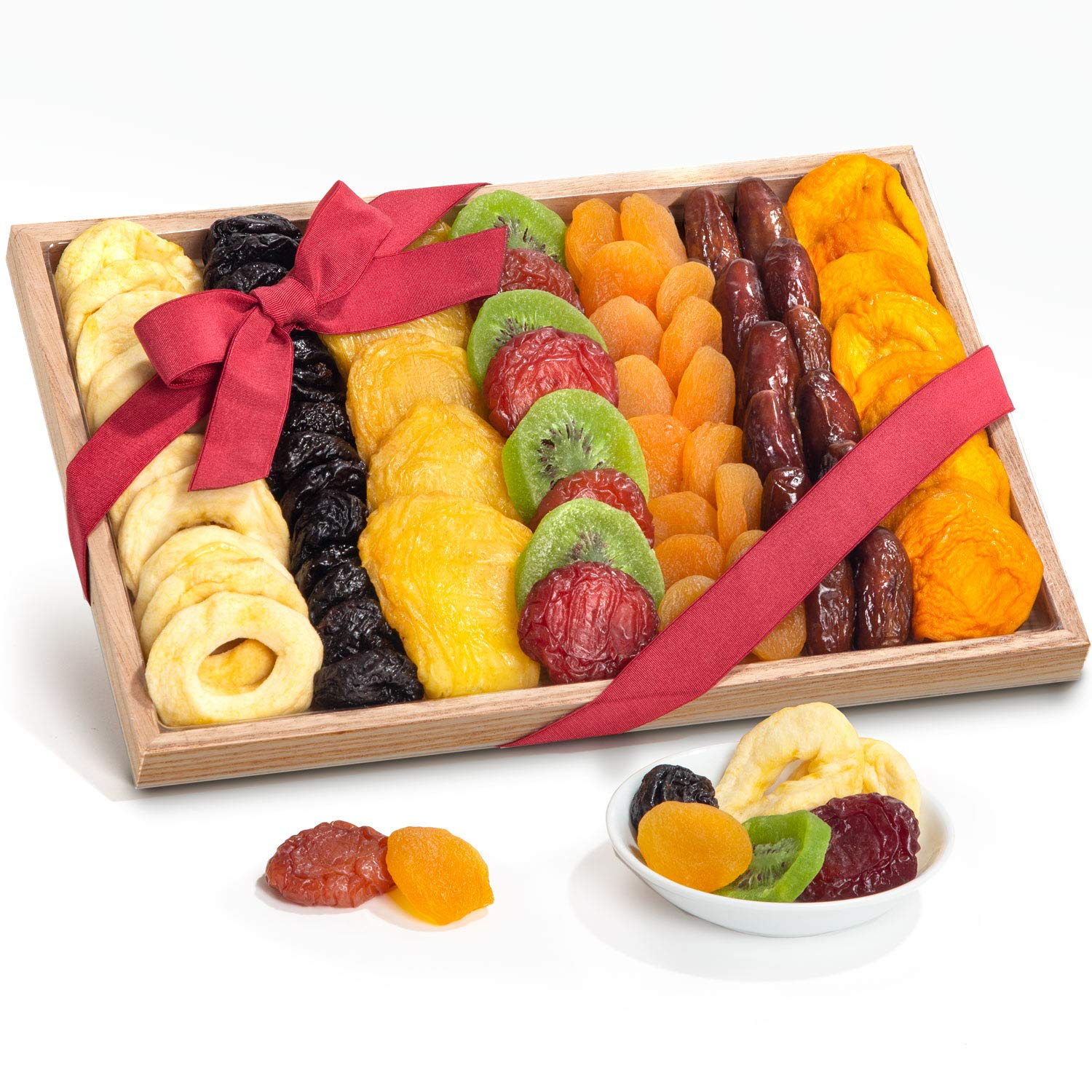 Simply Dried Fruit Gift Tray Basket Arrangement Nut Free for Holiday Birthday Healthy Snack Business Gourmet Food Platter 25 oz
