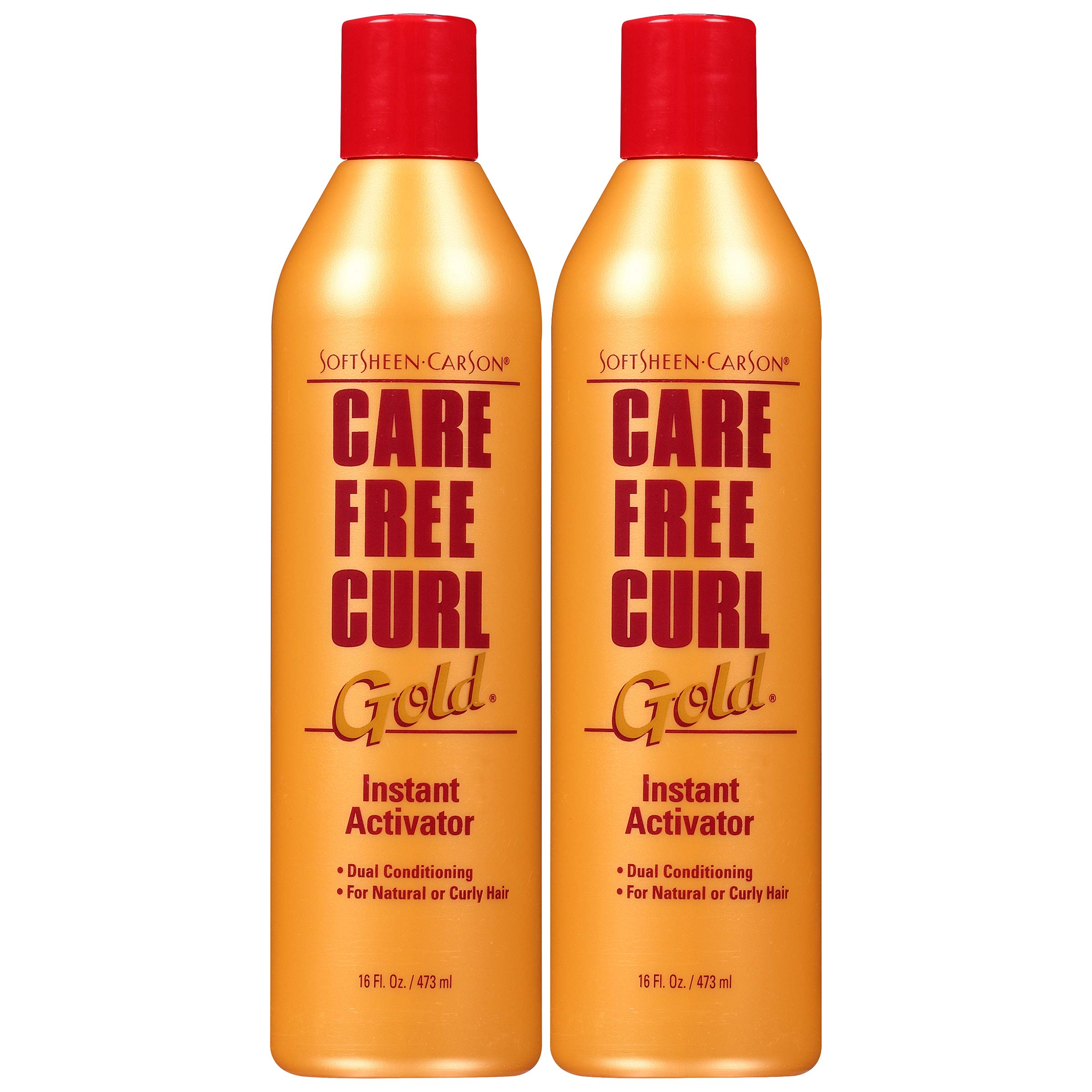 Curly Hair Products by SoftSheen-Carson Care Free Curl Gold Instant Activator, for Natural and Curly Hair, Softens and Hydrates, Moisturizes Hair and Great for Easy Combing, 2 Count