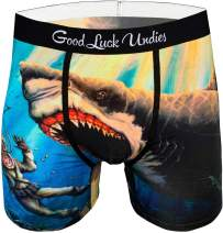 Good Luck Undies Men's Shark Attack Boxer Brief Underwear