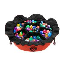 CardKingPro Immense Dice Bags with Pockets - Burnt Orange - Capacity 150+ Dice - Great for Dice Hoarders [Patented Design]