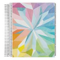Erin Condren 12 - Month 2020 Coiled Life Planner 7x9 (January - December 2020) - Kaleidoscope Colorful, Horizontal(Neutral Layout). Daily Agenda with Monthly Calendar Tabs