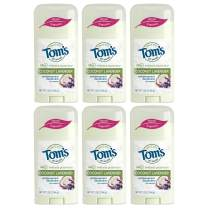 Tom's of Maine Women's Natural Stick Antiperspirant, Coconut Lavender, 2.25 Ounce, Pack of 6