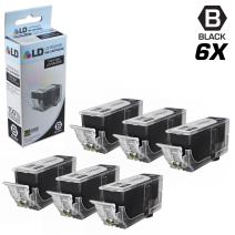 LD Compatible Ink Cartridge Replacement for Canon PGI-225BK 4530B001AA (Pigment Black, 6-Pack)