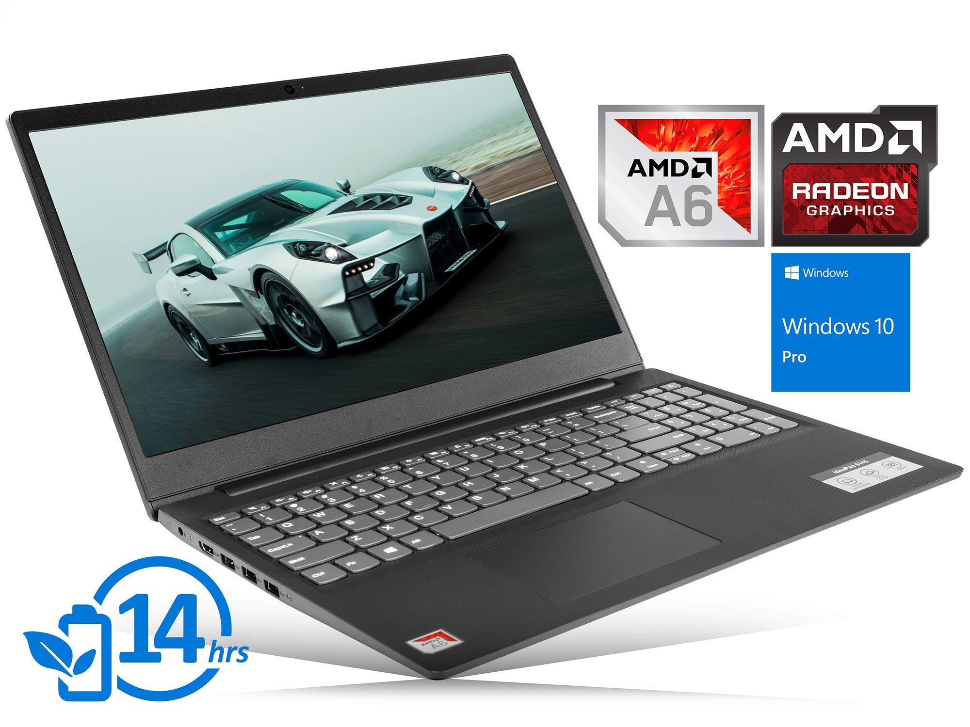 "Lenovo IdeaPad S145 Laptop, 15.6"" HD Display, AMD A6-9225 Upto 3.0GHz, 8GB RAM, 512GB SSD, HDMI, Card Reader, Wi-Fi, Bluetooth, Windows 10 Pro"