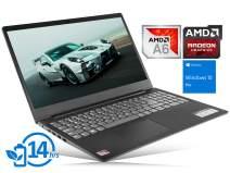 "Lenovo IdeaPad S145 Laptop, 15.6"" HD Display, AMD A6-9225 Upto 3.0GHz, 16GB RAM, 128GB SSD, HDMI, Card Reader, Wi-Fi, Bluetooth, Windows 10 Pro"