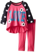Gerber Graduates Baby and Little Girls' Long-Sleeve Top and Legging Set