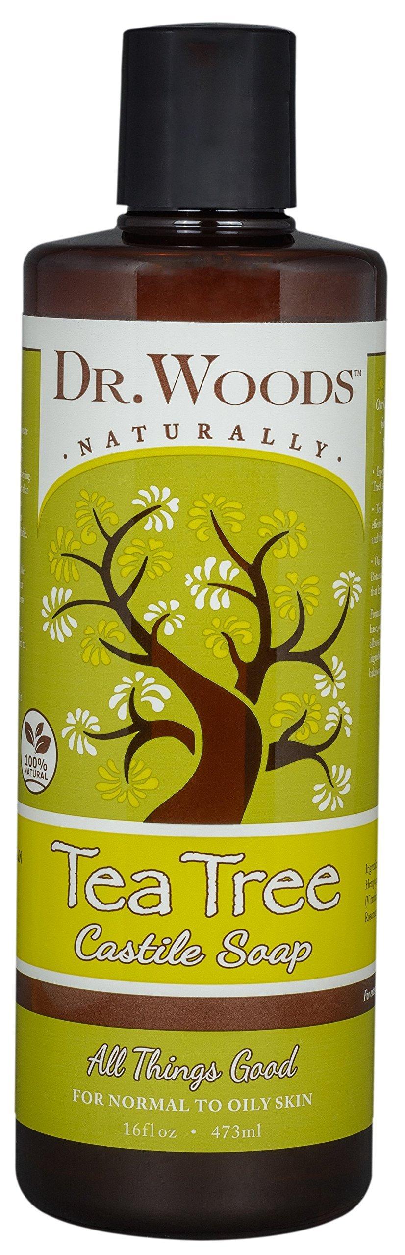 Dr. Woods Pure Castile Soap Tea Tree, 16 Ounce