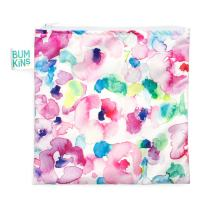 Bumkins Sandwich Bag / Snack Bag, Reusable, Washable, Food Safe, BPA Free, 7x7 – Watercolor