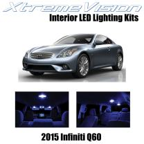 Xtremevision Interior LED for Infiniti Q60 2015+ (9 Pieces) Blue Interior LED Kit + Installation Tool