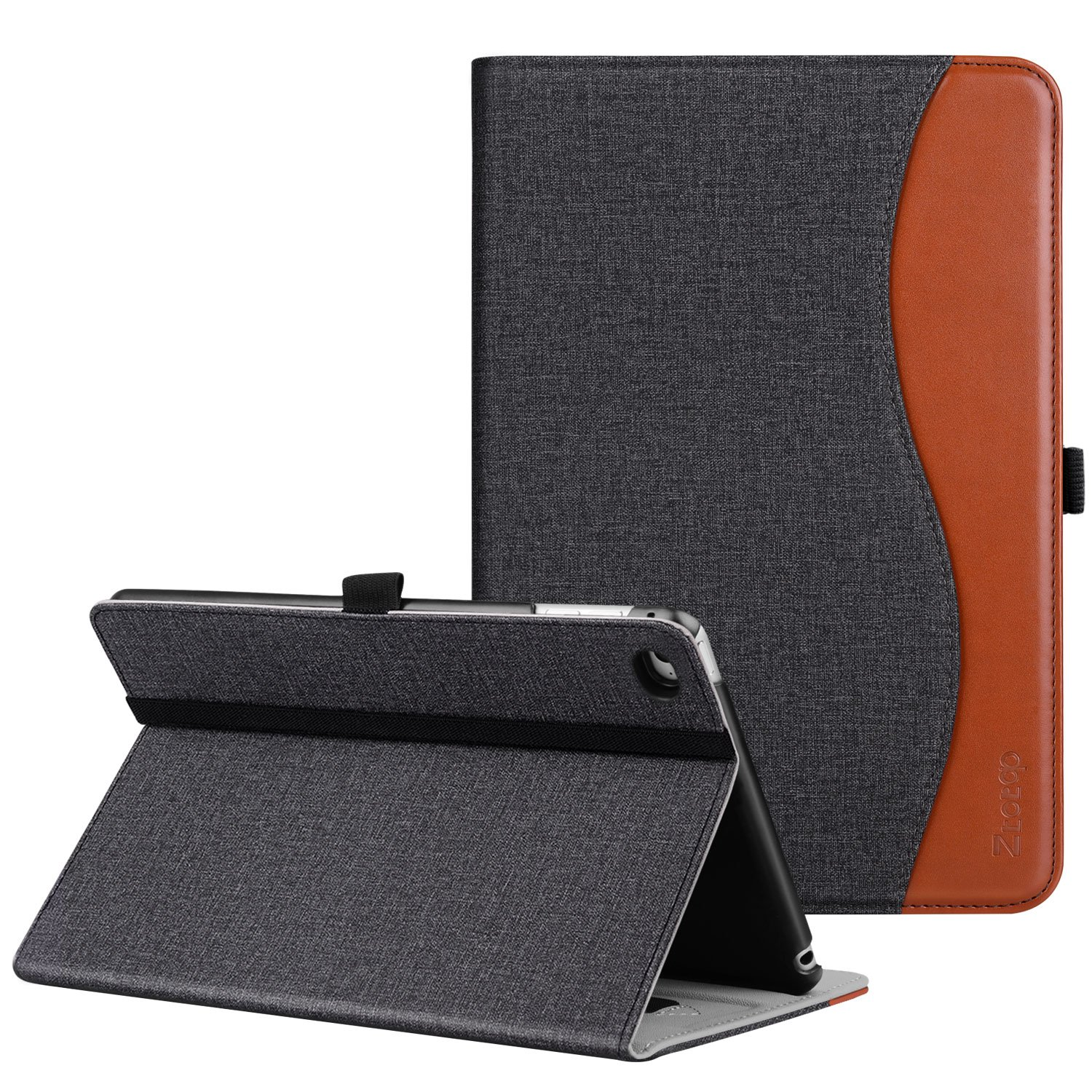Ztotop iPad Mini 4 Case, Leather Folio Stand Protective Case Smart Cover with Multi-Angle Viewing, Paperwork Card Pocket, Functional Elastic Strap for iPad Mini 4 - Denim Dual Color