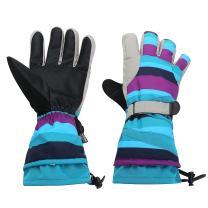 Topnaca Winter Snow Skiing Gloves, Waterproof Thermal for Snowboard Snowmobile