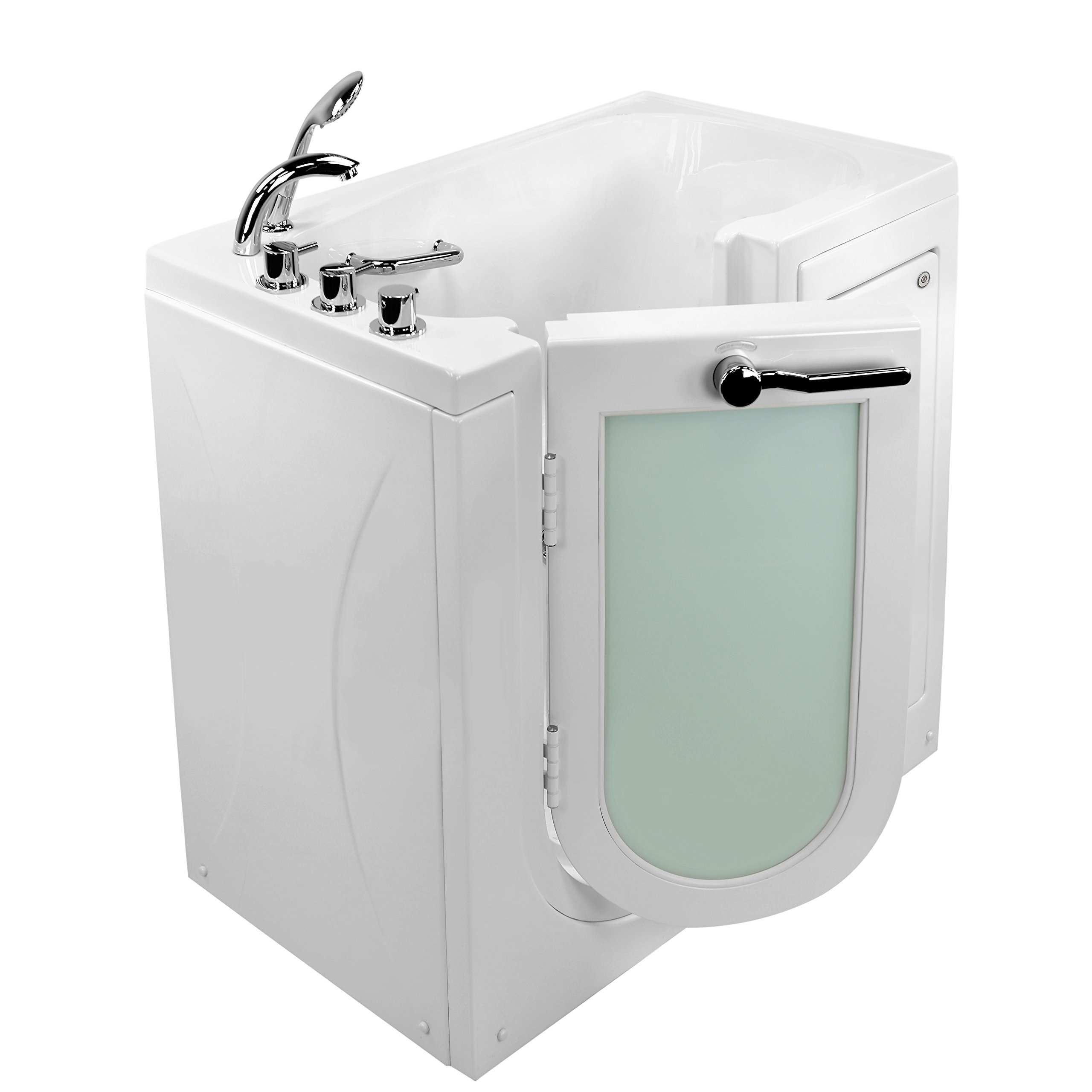 Ella's Bubbles OA2645-H-L Mobile Soaking and Heated Seat with Left Outward Swing Door Walk-In Tub White