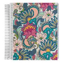 Erin Condren 18 - Month 2020-2021 Coiled Life Planner (July 2020 - December 2021) - Playful Paisley Cover, Hourly Layout, Layers Neutral Interior Design, Daily Agenda