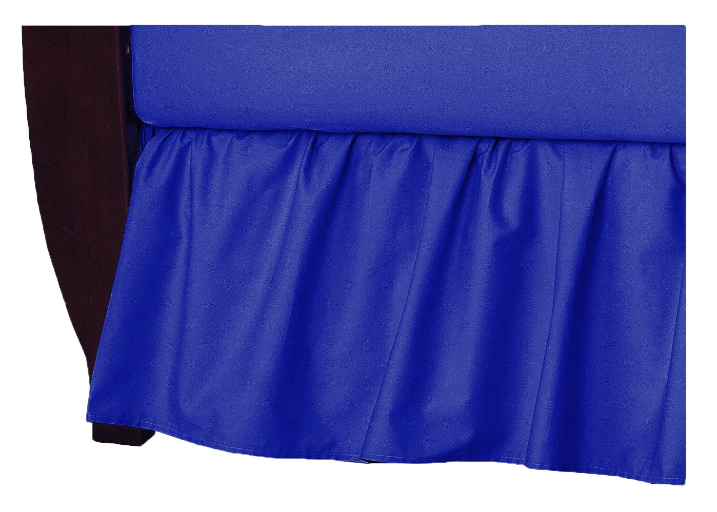 TL Care 100% Natural Cotton Percale Crib Bed Skirt, Royal, Soft Breathable, for Boys