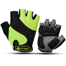 Letook Breathable Bike Gloves Half Finger Padded Cycling Gloves for Summer Biking
