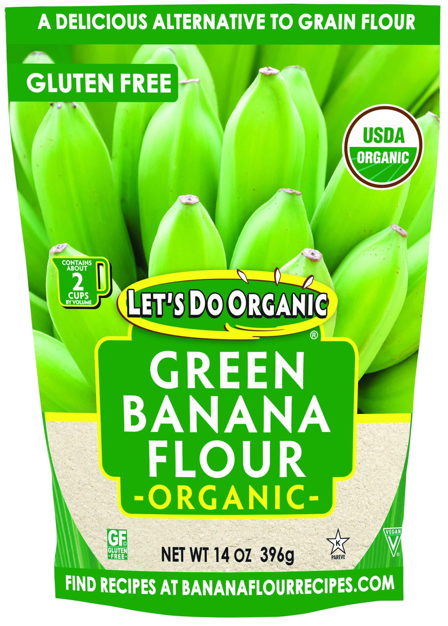 Let's Do Organic Green Banana Flour, 14 Ounce