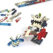 PIPEROID DIY 3D Puzzle Paper Craft Kit Guyzer & Bean Rock Star & His Only Fan - Japanese Arts and Craft Kit for Kids and Adults - Birthday Gift and Party Favor for Origami Paper Craft Enthusiasts