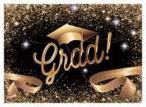 WOLADA 7X5ft Graduation Backdrop 2020 Grad Leave School Gold Trencher Cap Tassel Congrats Celebration Grad Graduation Ceremony Party Senior Pictures Decor Photography Backdrop Photo Studio Prop 11570