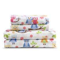 Kute Kids Super Soft Sheet Set - Owl Print - Brushed Microfiber for Extra Comfort (Full)