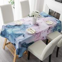 """HMS Happy Memories Tablecloth Original Design Hand Drawing Art Print Table Cloth, Washable Water Resistance Microfiber Decorative Water-Proof Rectangle Table Cover (Tape 1, 60""""x84"""")"""