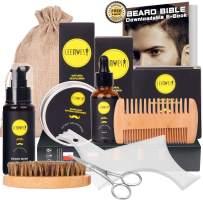 Ceenwes 10 in1 Beard Grooming Kit for Men Care with Beard Oil, Beard Brush, Beard Comb, Beard Balm, Beard Shampoo, Beard Scissors & Shaping Tool Beard Growth Kit Perfect Gifts for Dad/Boyfriend