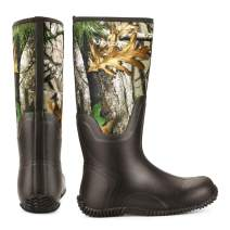 Magreel Waterproof Rubber Boots for Men and Women, Insulated Neoprene Boots for Snow, Rain, Mud, Garden, Fishing, Hunting and Outdoor Work
