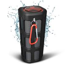 TREBLAB FX100 Portable Bluetooth Speakers - Shockproof, Water-Resistant, Rugged for Outdoors, Built-in 7000mAh Power Bank Mic, HD Audio, Wireless Bluetooth Speakerphone w/Mic (Renewed)