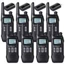 Retevis RT16 Walkie-Talkie for Adult Rechargeable FRS 22 CH Emergency Dual Watch NOAA LCD Flashlight with FM Radio VOX Long Range 2 Way Radio(8 Pack)