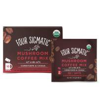 Four Sigmatic Mushroom Coffee, Organic Instant Mushroom Coffee with Cordyceps and Chaga Mushrooms, Support Energy & Athletic Performance, Keto & Portable, 10 Count