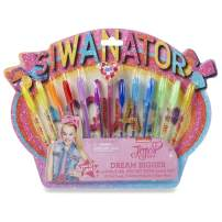 Tri-Coastal Design JoJo Siwa Themed 12 Piece Gel Pen Set with 6 Gel Pens and 6 Glitter Markers - Perfect Gift for Girls