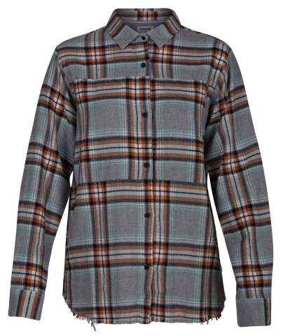 Hurley Women's Plaid Collared Long Sleeve Button Down Shirt