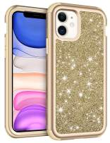 Vofolen Cover for iPhone 11 Case with Front Bumper Bling Glitter Shiny Full-Body Protection Hybrid Protective Hard Shell Soft Silicone TPU Rubber Bumper Armor Case for iPhone 11 6.1 inch Gold