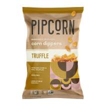 Pipcorn Heirloom Corn Dippers - Truffle, 9.25oz Bags, 4 Pack - No Artificial Anything, Vegan, Gluten Free, 4 Simple Ingredients - Non-GMO Heirloom Corn, Sunflower Oil, Sea Salt, and Black Truffle