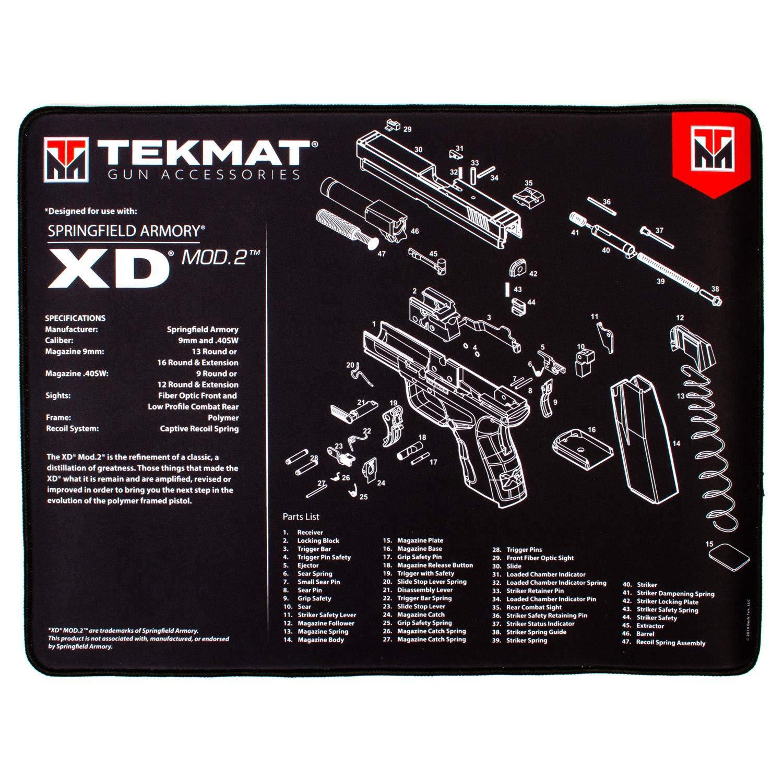 TekMat Handgun Ultra 20 Premium Springfield XD Mod 2 Cleaning Mat, Black