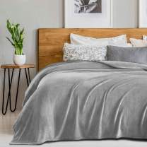 """SEDONA HOUSE Fleece 280GSM Luxury Microfiber Flannel Super Soft Warm Fuzzy Cozy Lightweight Blanket for Bed Couch or Car Color Grey Size Throw 50""""x60"""", 50x60,"""