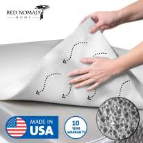 Red Nomad Memory Foam Mattress Pad 2 Inch - Queen Size Mattress Topper for Back Pain Relief. Breathable, Comfortable Cooling Bed Pad/Made in The USA