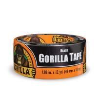 "Gorilla Black Duct Tape, 1.88"" x 12 yd, Black, (Bulk Pack of 24)"